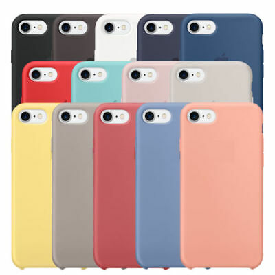 Original Silicone/Leather Case For IPhone 8 Plus X 7 6 5 5S SE Genuine OEM Cover