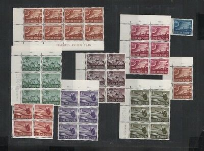 223 BGL Luxembourg - Luxemburg Poste Aerienne AIR MAIL lovely MNH stamps