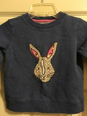 Mini Boden Bunny Sweatshirt Girls Size 3-4