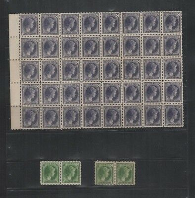 229 BGL Luxembourg - Luxemburg G.D. Charlotte MNH stamps incl. part sheet