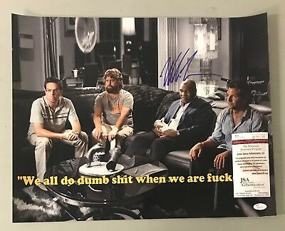 Mike Tyson Signed 16x20 THE HANGOVER Photo AUTO JSA WITNESSED COA Boxing HOF