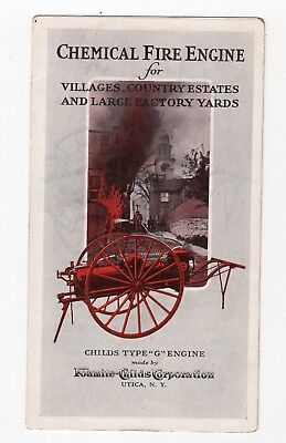 Vintage Foamite-Childs Chemical Fire Engine brochure