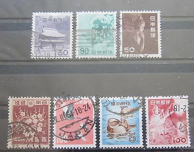 Briefmarken Japan Lot sehr alte Freimarken gestempelt