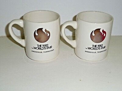 2 - Original The 1982 World's Fair Knoxville Tennessee Coffee Mug Cup White