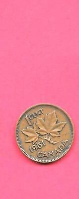 Canada Canadian Km41 1951 Vf-Very Fine-Nice Old Vintage Bronze Cent Coin