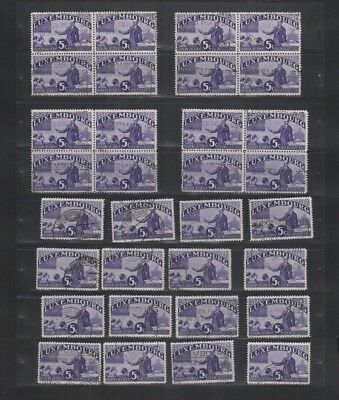 244 BGL Luxembourg - 1935 Intellectual Intellectuels USED stamps genuine cancels