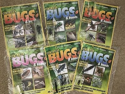 Real Life Bugs And Insects X6 New Magazines Issues 64,65,66,67,69&70