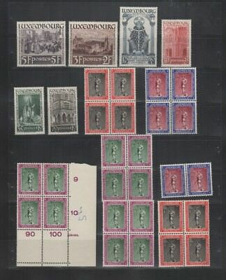 248 BGL Luxembourg - 1938 The 1200th Death of Saint Willibror & CARITAS 1937 MNH