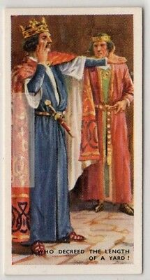 Tip Of King Henry I Nose To Thumb Is A Yard  75+ Y/O Trade Ad Card