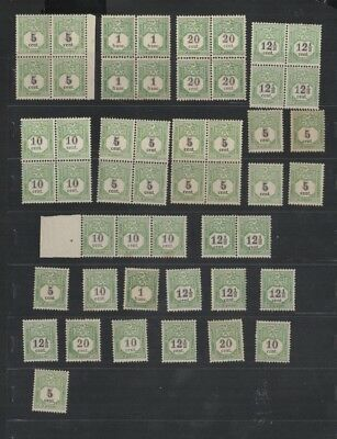 260 BGL Luxembourg - Luxemburg TAX Taxes lovely selection of MNH stamps