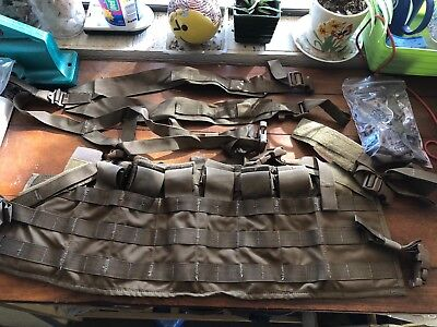 **NEW** USMC Chest Rig Tactical Assault Panel w/ Shoulder Harness Coyote SHTF