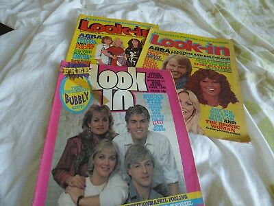 LOOK IN - JOB LOT / SET / COLLECTION / BUNDLE x 3 ISSUES (ABBA / BUCKS FIZZ)