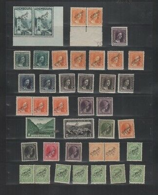 274 BGL Luxembourg - G.D. Charlotte Marie-Adelaide & more OFFICIEL MNH stamps