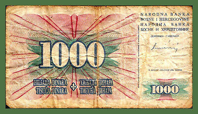 Bosnia 1000 Dinara 1994 Pick 46 a !!! LARGE NUMBERS !!!