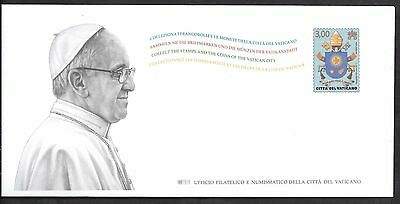 Vatican 2017 Pope Francis & Coat of Arms Postal Stationery ISSUED ONLY 20,000