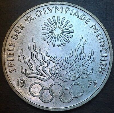 1972 Germany Munich Olympic Games 10 Mark Silver Coin C813