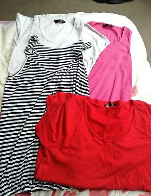 Maternity Summer Vests Bundle, T-shirt, Size 12, Mothercare, New Look