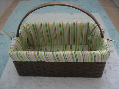 Summer Basket fully lined with removable washable cover vgc