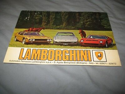 Lamborghini  ORIGINAL Miura Islero Espada two sided sheet brochure