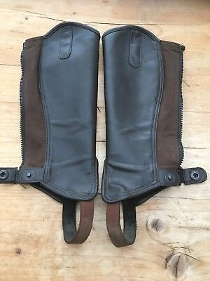 shires childs half chaps sizes large