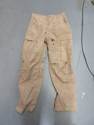 Us Army Desert Tan Aircrew Flame Resistant Pants Small Short Nomex Aramid