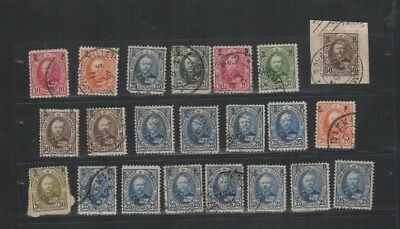 296 BGL Luxembourg - G.D. Adolphe S.P. overprint lovely selection of USED stamps