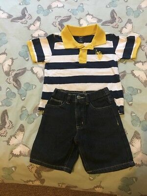 LOOK! Boys Ralph Lauren Shorts & Polo Shirt Set, Bargain...stunning & Rare! 3yrs