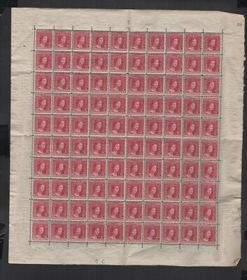 302 BGL Luxembourg - G.D. Marie-Adelaide complete MNH sheet w/ folds & detached