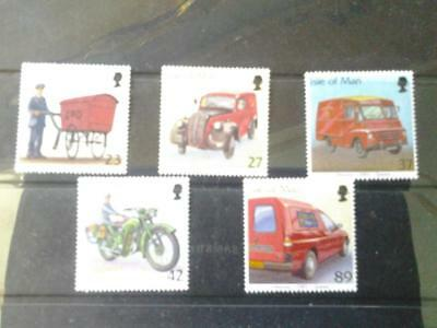 (H954) Isle of Man  POST VEHICLES 2003  SET OF 5 MNH more listed