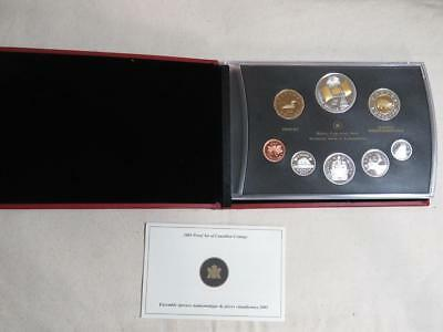 2005 Proof Set of Canadian Coinage - 40th Anniversary Canada Flag