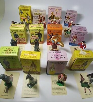 Mixed Lot of 12 Vintage Marx Warriors of the World Hand Painted Figurines