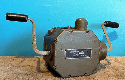 Signal Corps Crosley GN-45-A Generator Hand Crank Survivalist Free Shipping