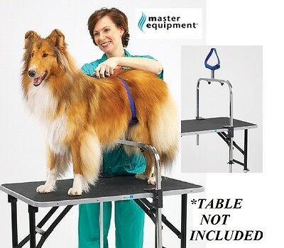 DOG GROOMER NO SIT RESTRAINT Saddle SUPPORT SYSTEM ARM&CLAMPS For Grooming Table