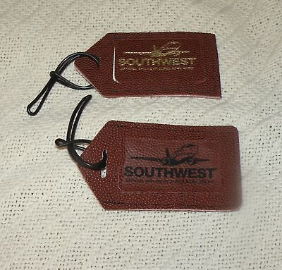Southwest Airlines Lot Of 2 Super Bowl Baggage Id Tags Nwot Boeing 737 Nfl