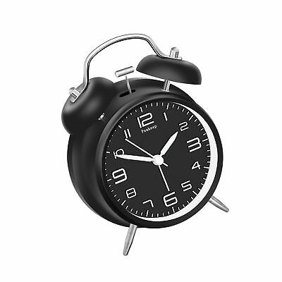 """Peakeep 4"""" Twin Bell Alarm Clock with Stereoscopic Dial, Backlight, Battery O..."""
