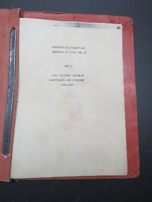 16pg Old Folder - WW2 US Military Aircraft Camouflages &  Finishes + Paint Chips