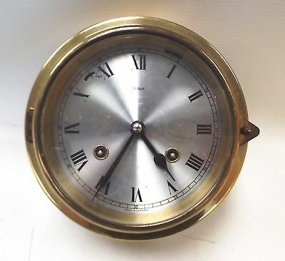 Vintage SHIPS CLOCK Brass Circular Chronometer - Made In Germany - Y99
