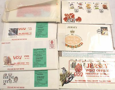 Collection Of Vintage JERSEY POST OFFICE Stamp Books & First Day Covers - B10