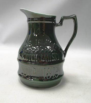 PERSABUS ISLAY Pottery Green Jug Designed And Hand Painted For LAPHROAIG  - Y99
