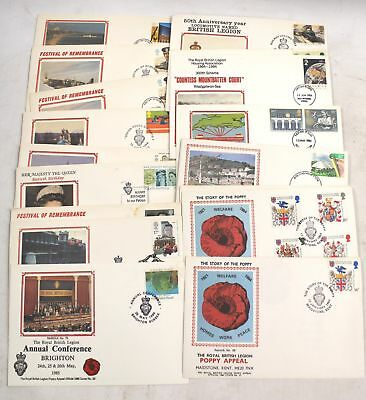 Collection Of Vintage BRITISH LEGION First Day Covers, With Silk Patch - B10