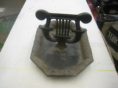 Victorian Style Boot Scraper Harp Shaped With Large Tray Cast Iron Boot Scraper