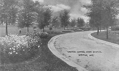 c1910 Central State Hospital Grounds, Waupun, Wisconsin Postcard