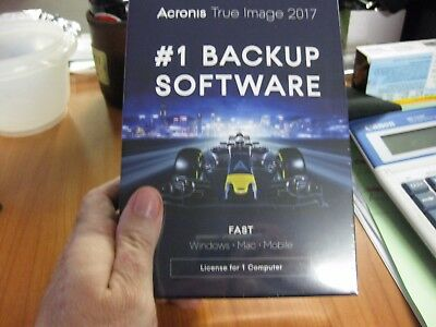 True Image 2017 Backup Software- New- Full Retail Box- Acronis -Our Fav Software
