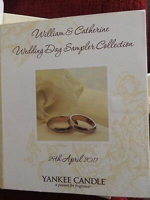 Yankee Candle. Wedding Day 9  Sampler/votive Book , William And Catherine