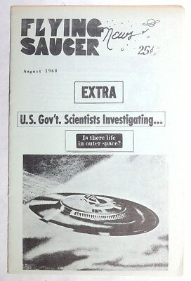 P964. Vintage: FLYING SAUCER NEWS UFO Fanzine Life In Outer Space (1968)