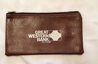 Vintage Great Western Bank Money Deposit Pouch