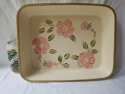 """Franciscan Desert Rose Large Casserole Dish 10"""" x 13"""" Portugal Perfect Condition"""