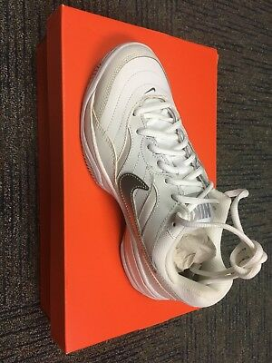 Brand New Womens Nike Court Lite Tennis Shoes. White and Silver. Size 7.5.