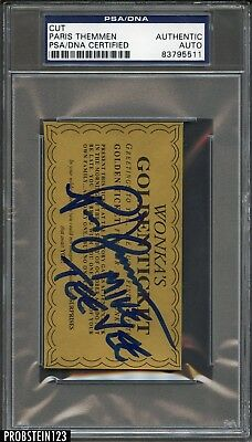 Paris Themmen Signed Willy Wonka's Golden Ticket PSA/DNA Autographed AUTO
