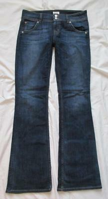 B1 Hudson 29 8 stretch dark denim bootcut jeans low rise button-flap pockets